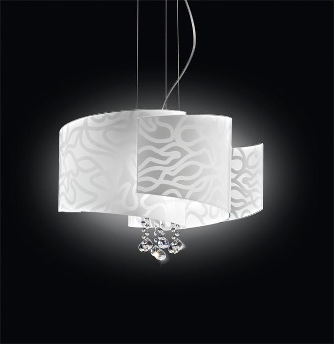 lampadario in vetro ventaglio s3 piccolo lampadario ventaglio adatto a ...