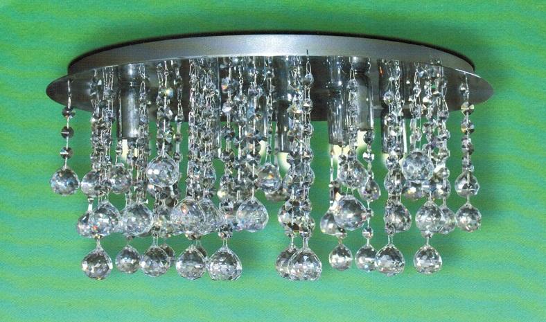 Plafoniere Con Gocce Di Cristallo : Faretti con cristalli pendenti in cristallo