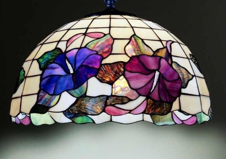 Lampadari Da Cucina Moderna : Lampadario tiffany con farfalle
