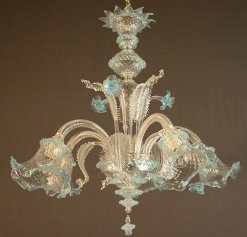 lampadario in vetro di murano a 5 luci lampadario in vetro di murano ...
