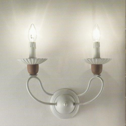 applique shabby chic selene a due luci due p. Black Bedroom Furniture Sets. Home Design Ideas