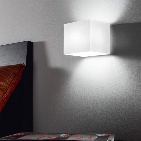 Applique moderna in vetro dice lampada da parete per bagno - Applique moderne da parete ...