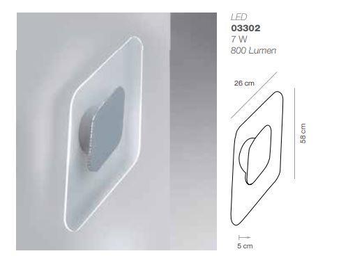 Applique led kyte rettangolare elesi luce acquista online
