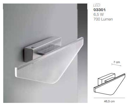 Applique led kyte triangolare elesi luce assortimento di applique