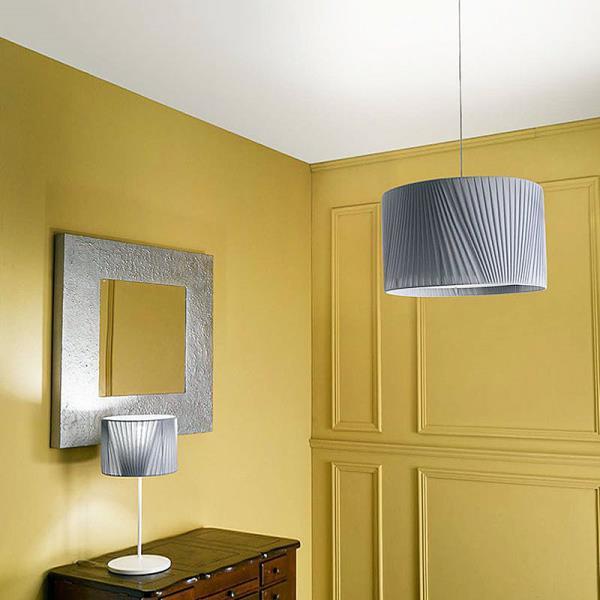 lampadario con paralume : lampadario con paralume in tessuto kyria il lampadario con paralume in ...