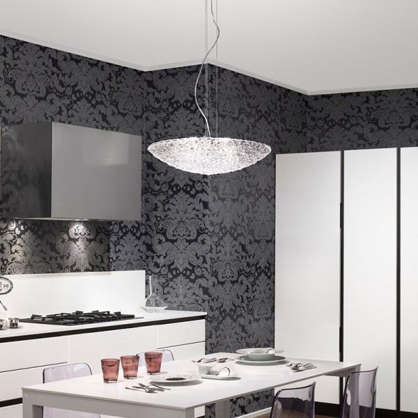 Lampadario da cucina artic con lampadina schermata - Lampadari in cucina ...