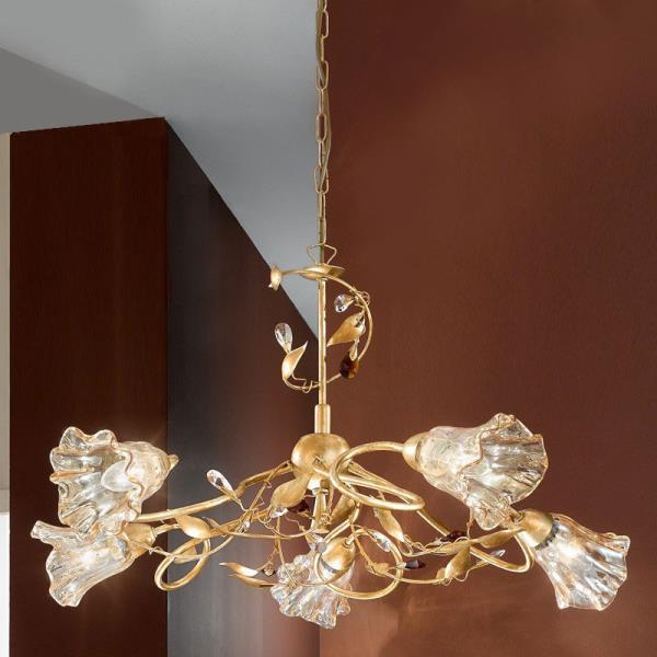 Lampadario in stile classico emma for Lampadario camera da letto classica