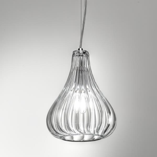 Lampadario in vetro soffiato una luce Clivia