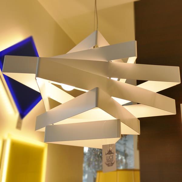 Lampadario moderno miles marchetti sospensione in metallo for Lampadario moderno camera