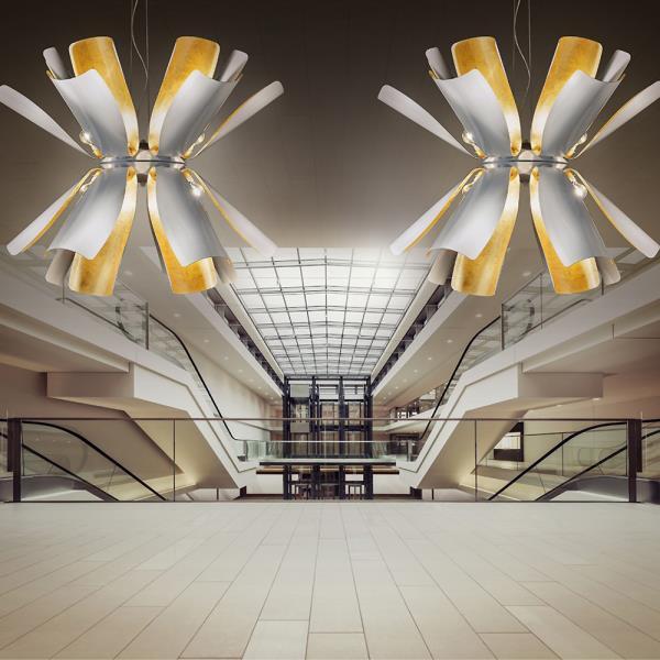 metal lux lampadari : Lampadario moderno TROPIC 12 luci