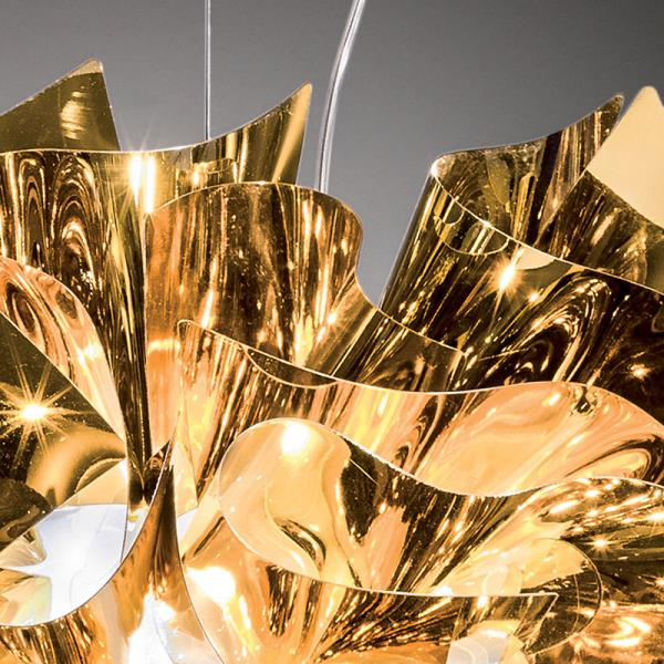 Lampadario moderno VELI Oro di Slamp