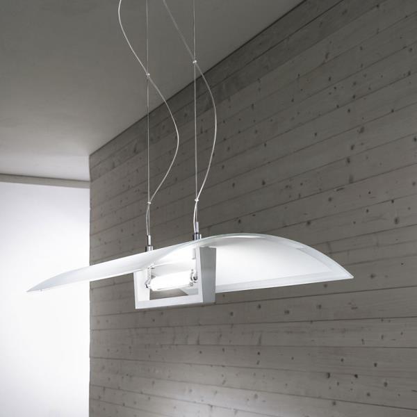 Lampadario moderno in vetro wood di linealight - Lampadario moderno cucina ...