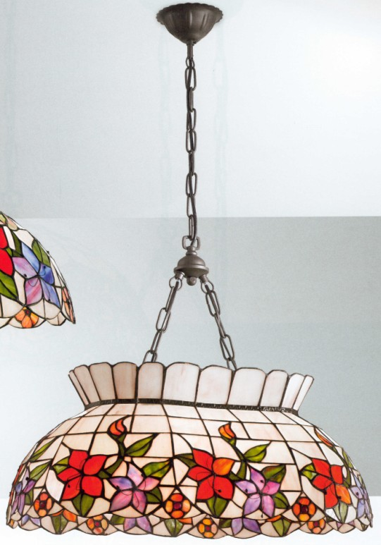 lampadari originali tiffany lavorati e intagliati a mano come la