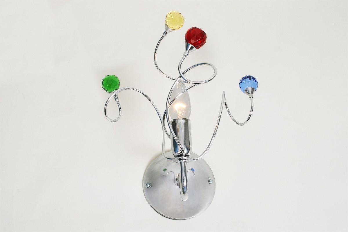 Applique cromata luce martina applique moderna