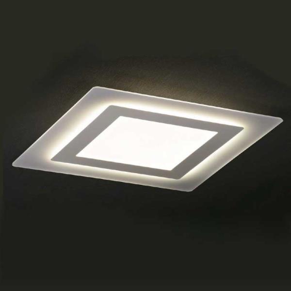 Plafoniera a led oblio promoingross lampada da soffitto quadrata for Plafoniere per bagno moderne