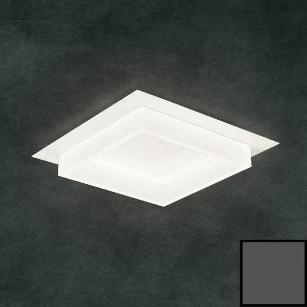 Plafoniera led Square quadrata Antracite