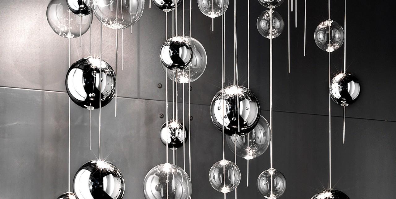 Plafoniere In Vetro Moderne : Plafoniera moderna niagara con bolle in vetro