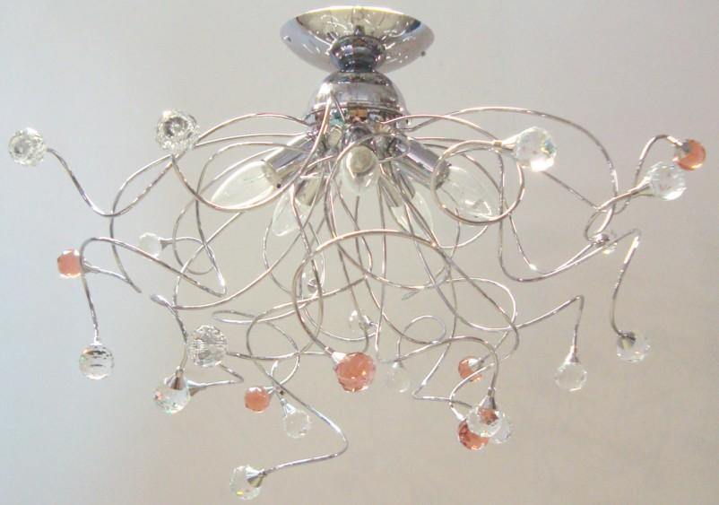 Plafoniere Con Gocce Di Cristallo : Plafoniera con gocce bianche a luci