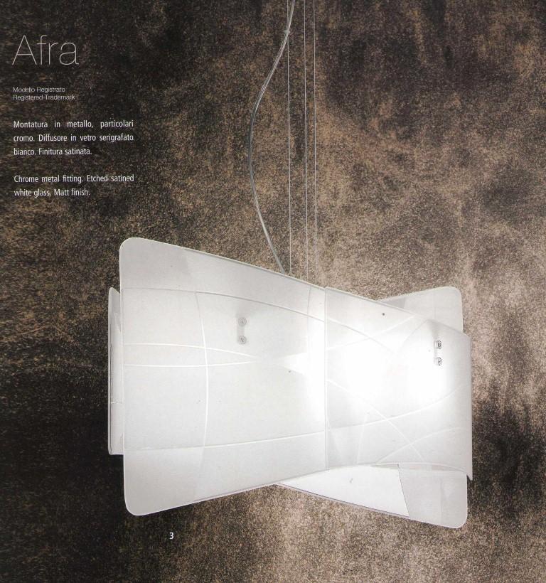 Sospensione in vetro AFRA media   Lampadario moderno -> Lampadari Moderni Rettangolare