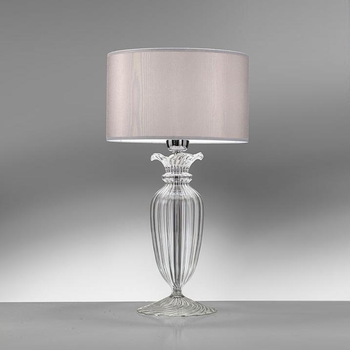 Lampada da tavolo con base in cristallo clivia - Base lampada da tavolo ...