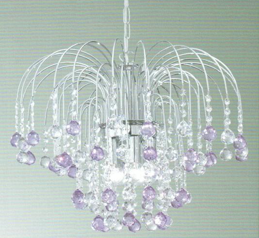 lampadario lilla : Lampadario con cristalli PIOGGIA lilla Lampadario moderno