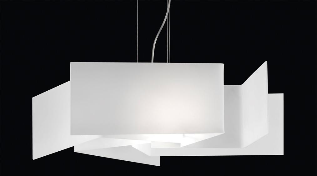Lampadario greta con 5 vetri satinato bianco - Lampadari moderni bagno ...