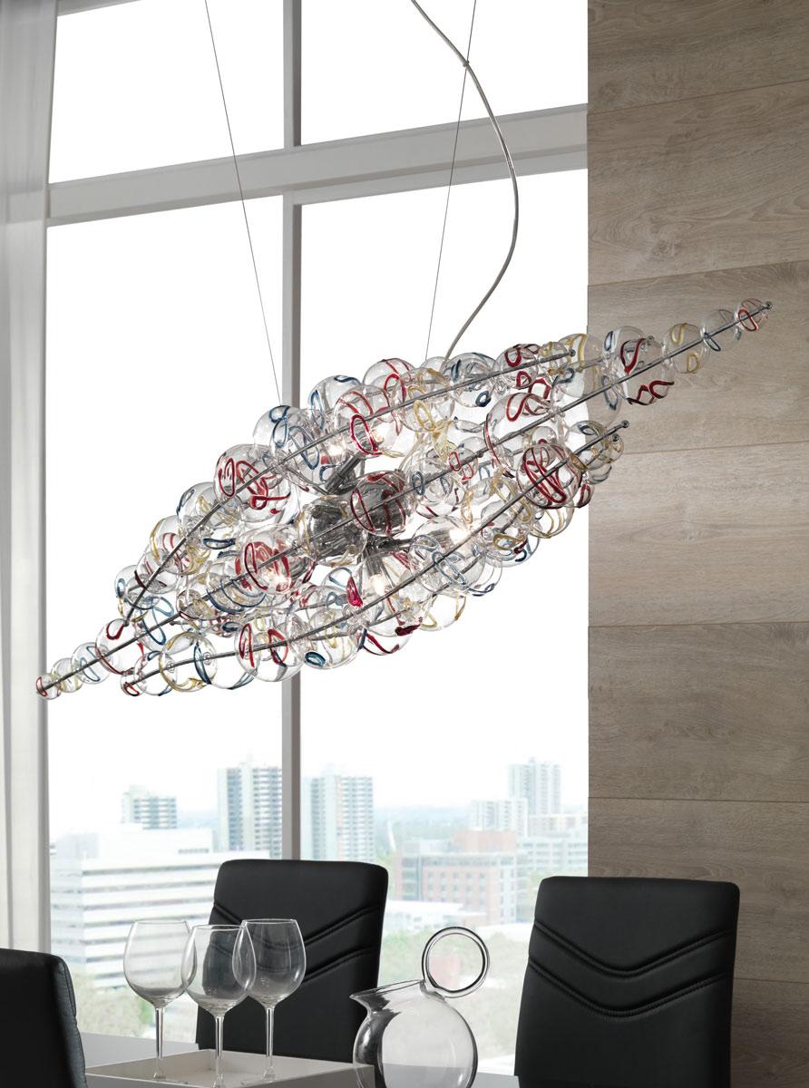 Lampadario nuvola in vetro soffiato colorato - Lampadari colorati design ...