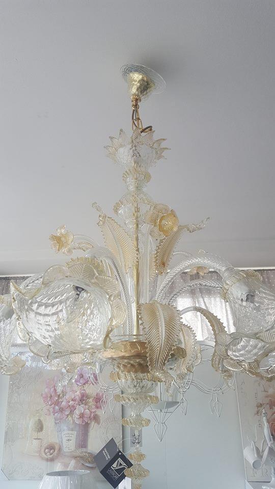 Lampadari in vetro di murano originali scontati