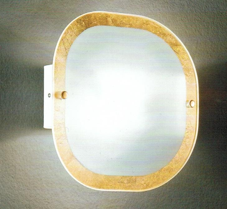 applique in vetro design moderno in oro : Applique in vetro foglia oro FRANJIPAN
