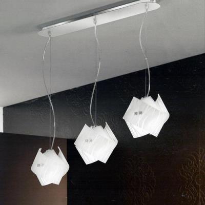 Lampadario a sospensione con 3 luci in fila AGNESE