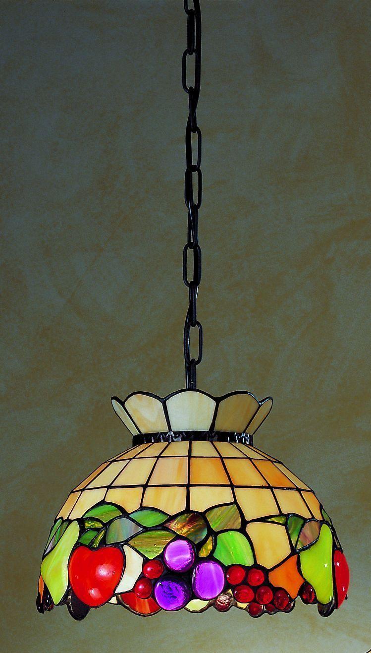 lampadario da cucina con frutta tiffany