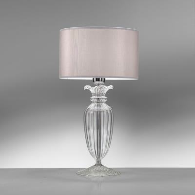 Lampada Da Tavolo In Cristallo Trasparente Clivia Di Antea Luce