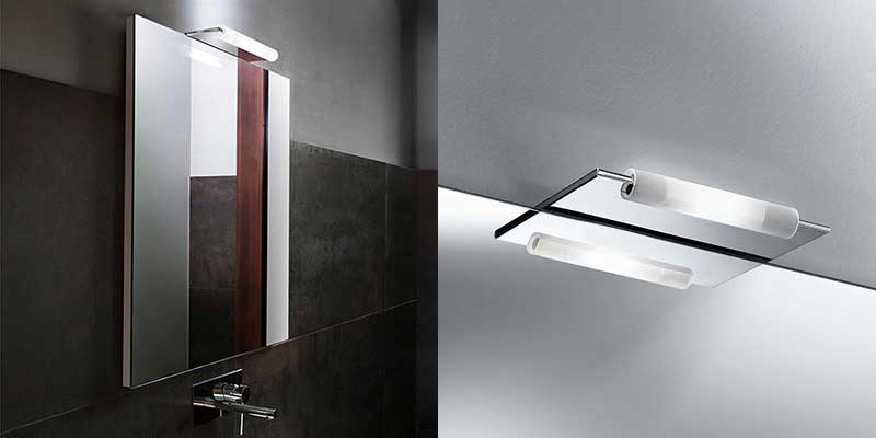 Come illuminare lo specchio del bagno - Applique bagno specchio ...