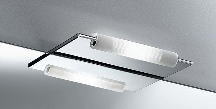 Plafoniere Per Il Bagno : Lampadario soffitto plafoniera moderna vetro satinato bianco bagno