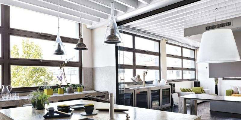 Come illuminare cucine e soggiorni open space
