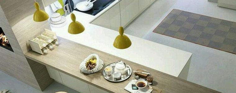 Illuminare il bancone e la penisola della cucina idee e consigli - Cucina con bancone ...
