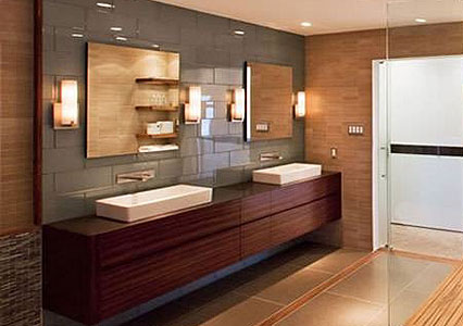 Come illuminare il bagno idee e consigli - Illuminazione bagno con faretti ...